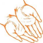 Zwei Hände mit Herz